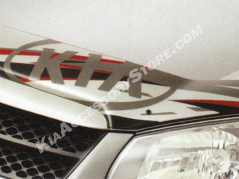 Kia Spectra Logo Hood Protector