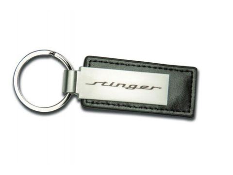 Kia Stinger Black Leather Key Chain