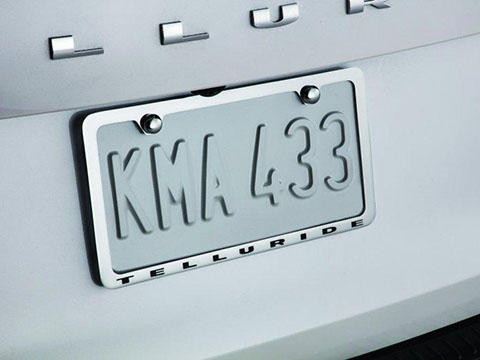 Kia Telluride License Plate Frame